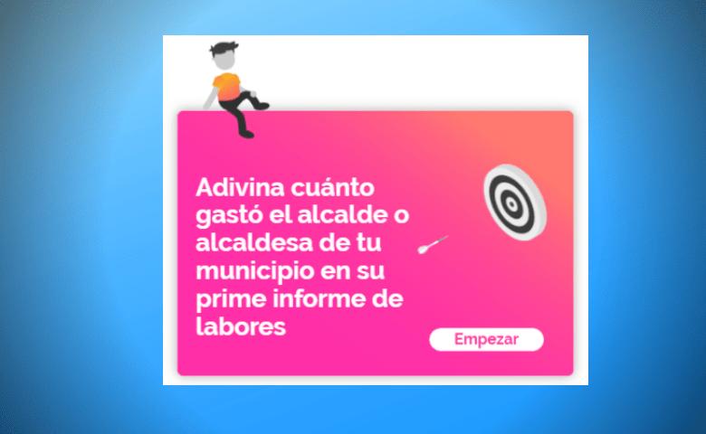 [INTERACTIVO] ¿Puedes adivinar cuánto gastó el alcalde de tu municipio en su primer informe de labores?