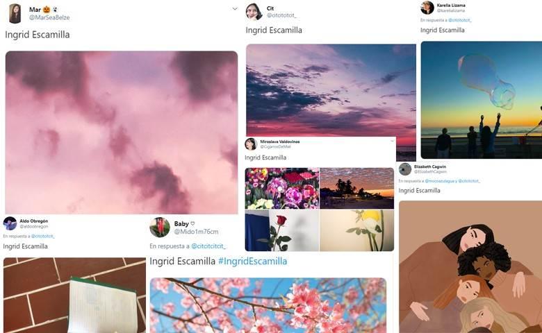 ¿Por qué hay gente compartiendo fotos de «cosas bonitas» con el nombre de Ingrid Escamilla?