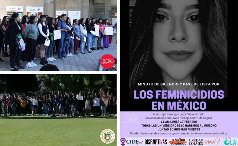 Estudiantes de la UDLAP e Ibero Puebla protestan por feminicidios