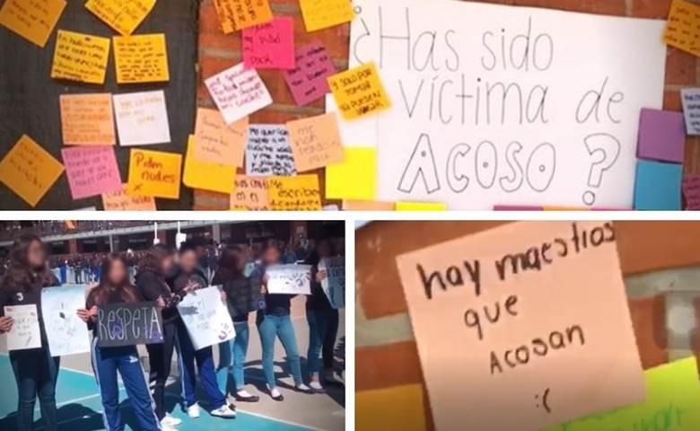 Alumnas de secundaria protestan contra el acoso en el Instituto Oriente