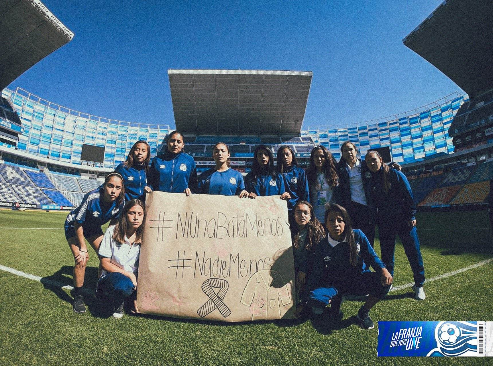 Club Puebla Femenil se solidariza con estudiantes