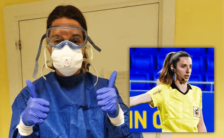 Medicina, la otra pasión de algunas futbolistas y arbitras que apoyan durante la pandemia