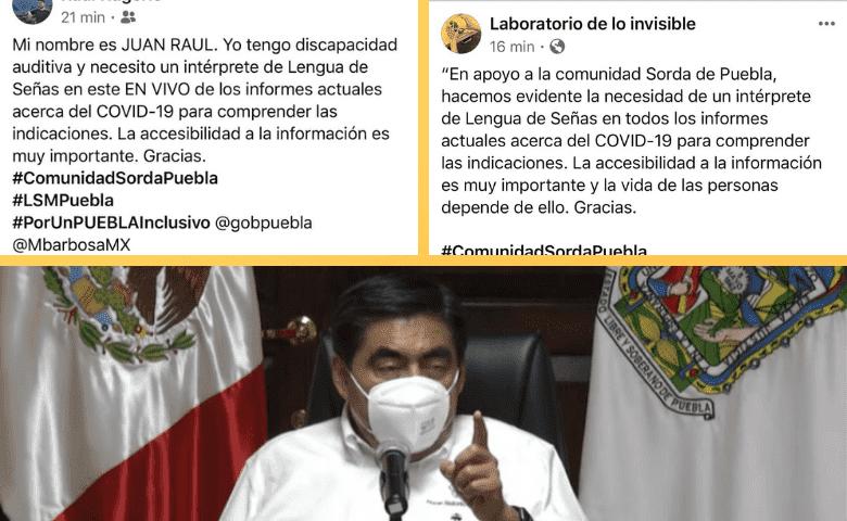 Con protesta digital, exigen intérpretes de lengua de señas en mensajes del gobernador