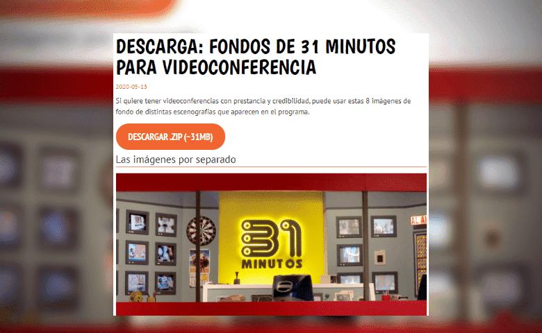 31 minutos regala fondos para que sus fans los usen durante sus videollamadas