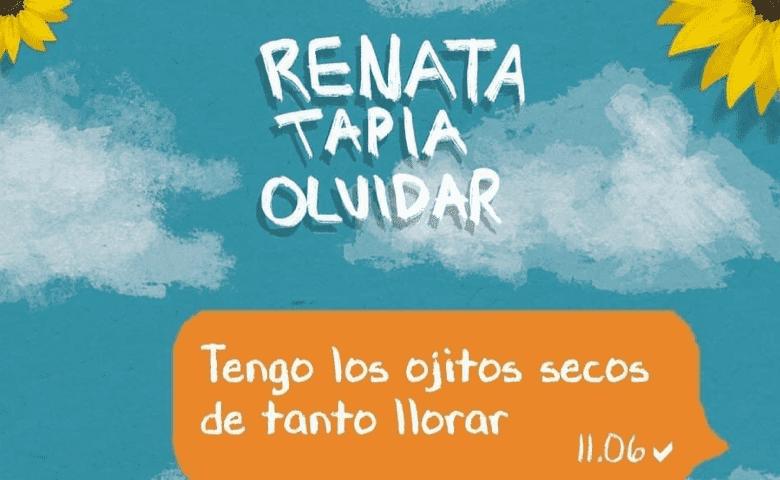 Renata Tapia estrena canción para olvidar y llorar