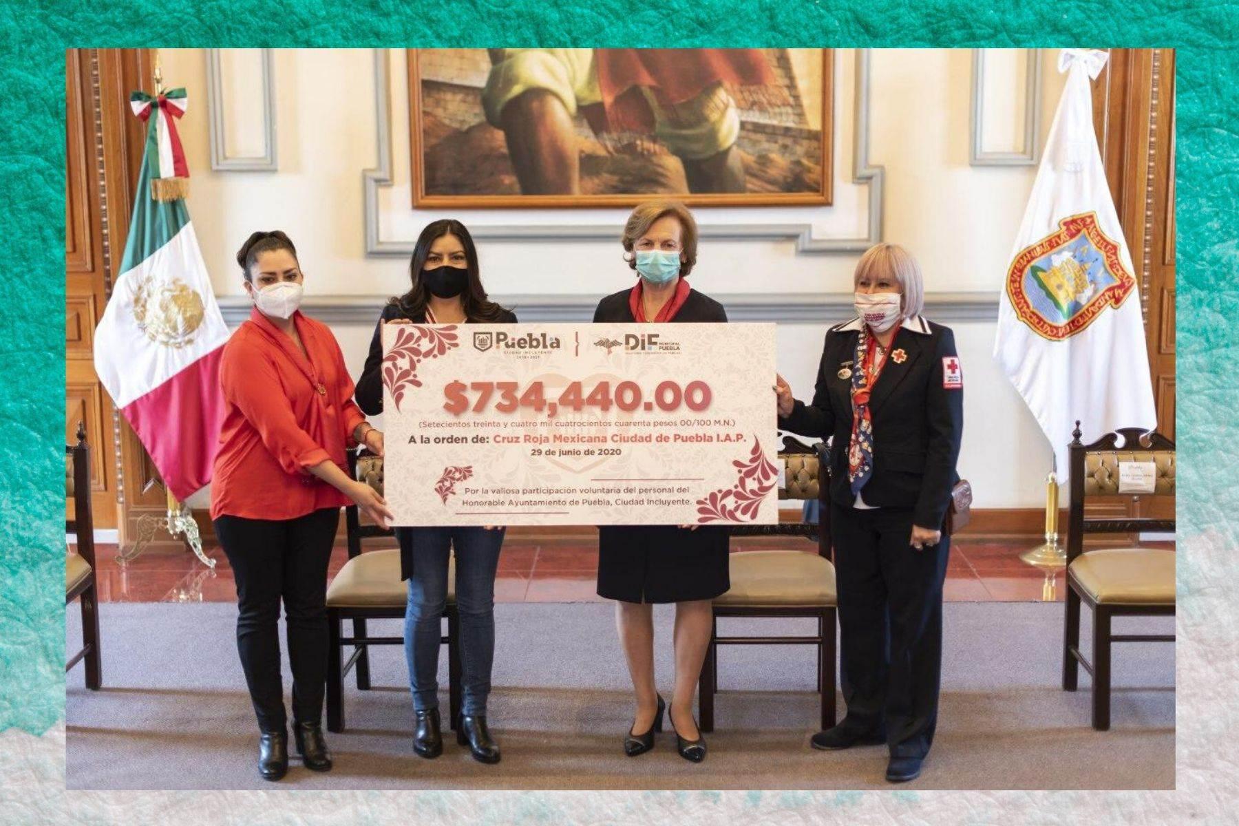 Gobierno capitalino dona más de 734 mil pesos a la Cruz Roja Mexicana