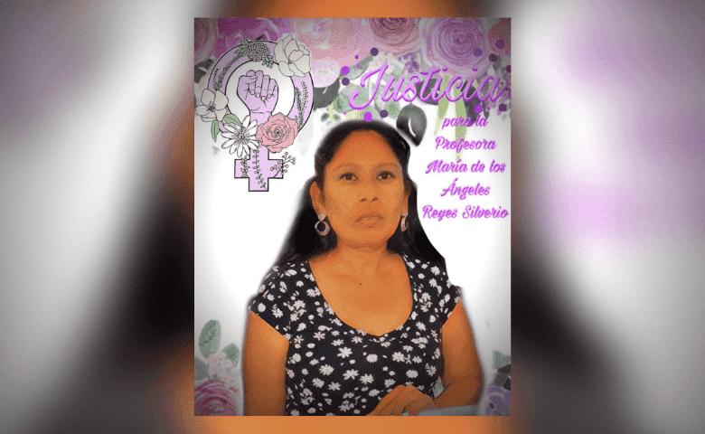 Exigen justicia para la profesora María de los Ángeles Reyes, víctima de feminicidio en Puebla