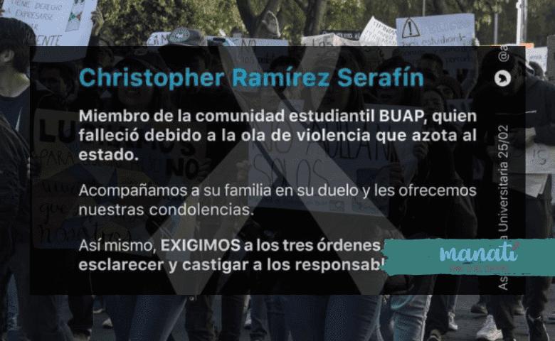 Estudiantes y rectores condenan asesinato de universitario de la BUAP