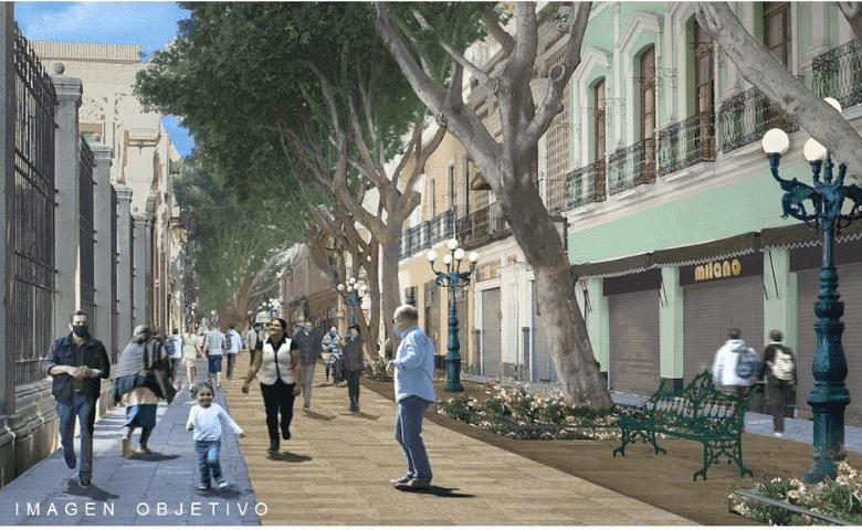 Anuncian remodelación de la calle 5 de mayo y ampliación de ciclovía