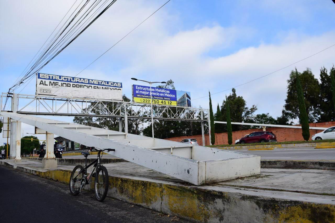 Retirarán puentes peatonales de la ciudad