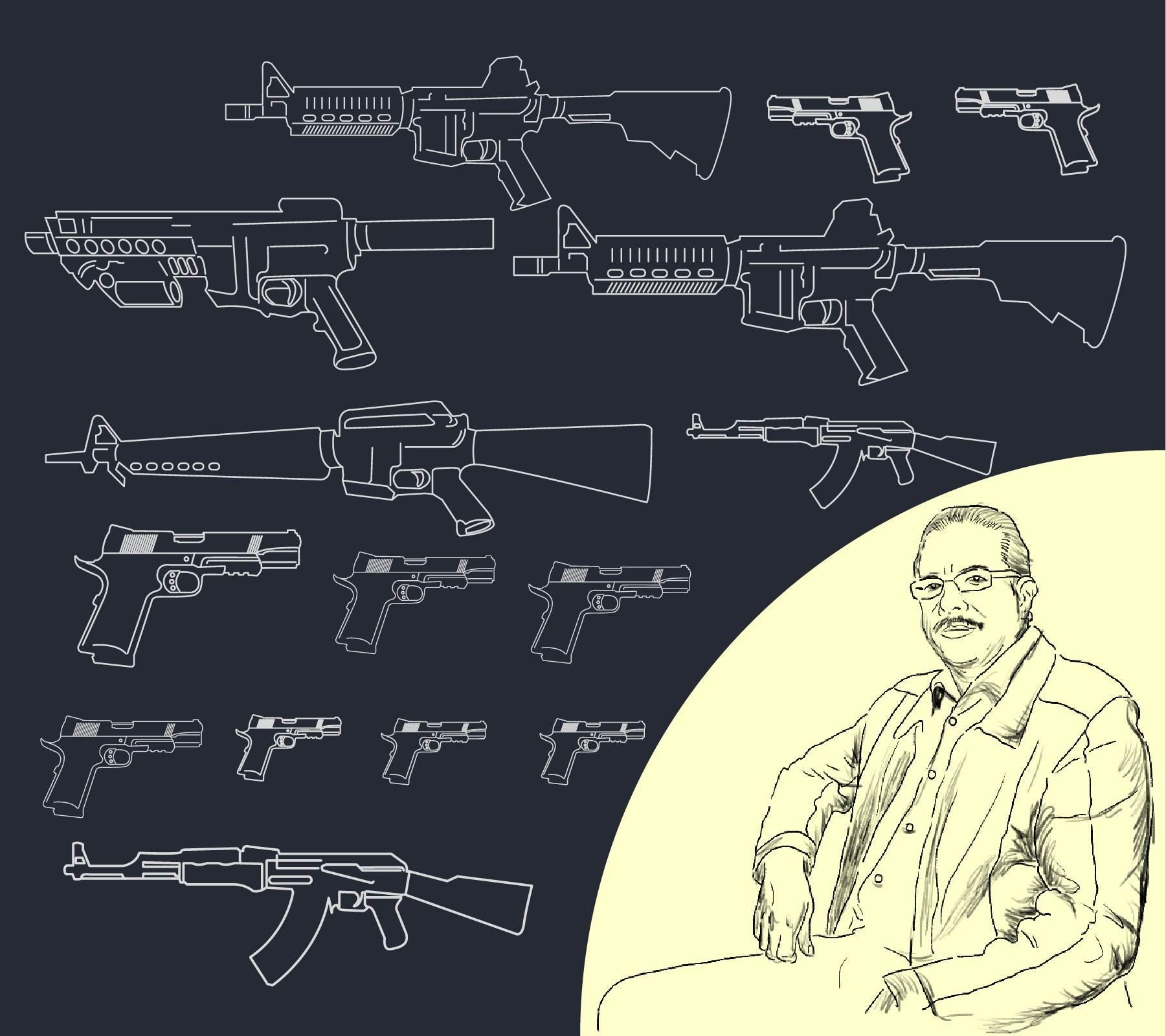 El mercado negro de las armas