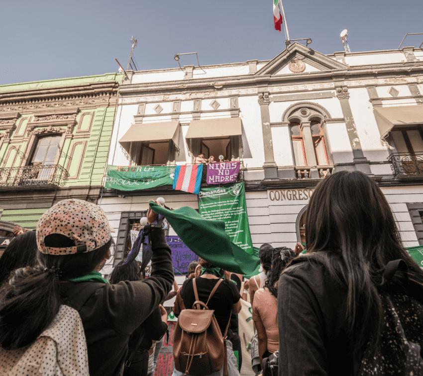 Colectivas y activistas de todo el país respaldan toma feminista del Congreso