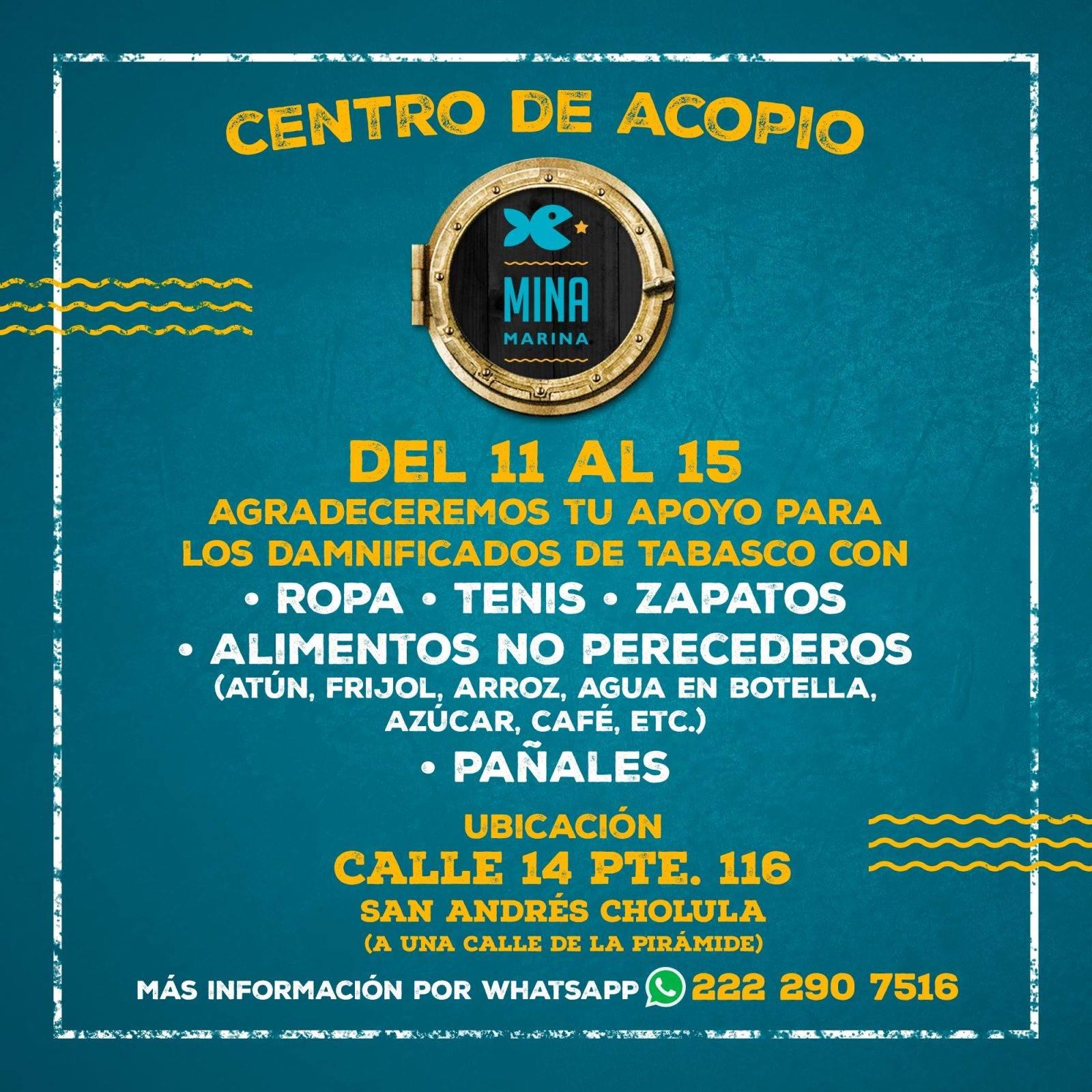 Centro de Acopio ubicado en San Andrés Cholula.