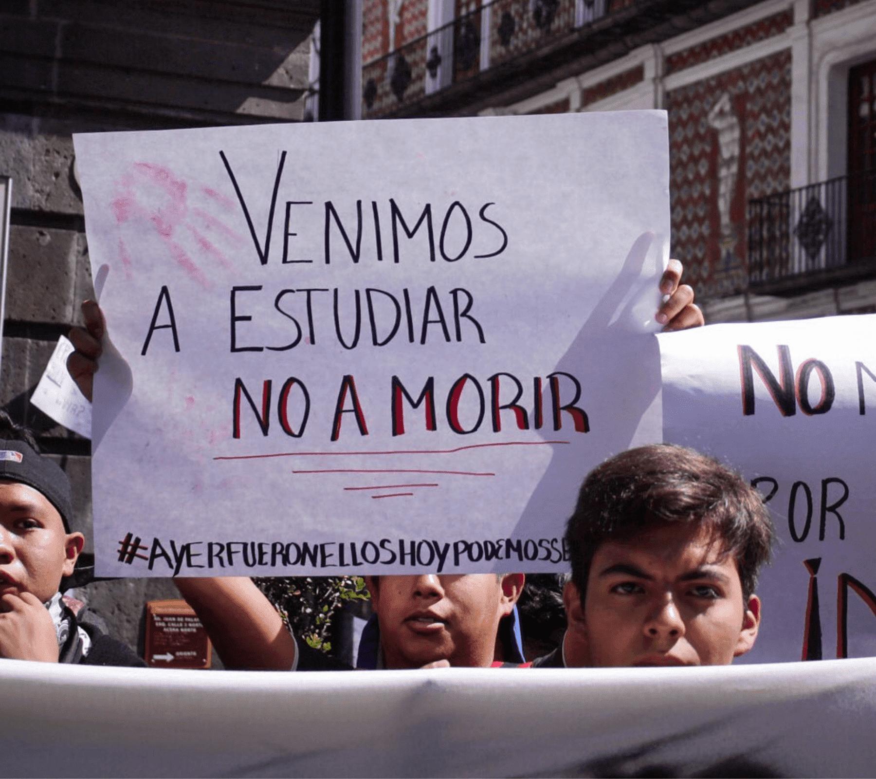 Aldo Padilla participó en las protestas estudiantiles de febrero y marzo de 2020.