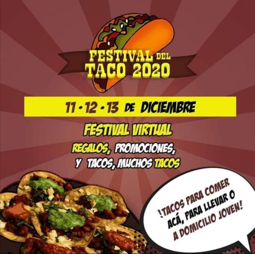 Imagen en la que se observa toda la información de la Feria del Taco de Puebla.