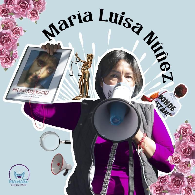 María Luisa es fundadora del colectivo La Voz de los Desaparecidos, que ha puesto rostro y garganta al fenómeno de la desaparición forzada en Puebla.