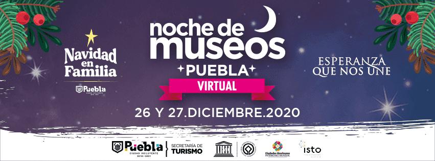 """La doceava edición de """"Noche de Museos Virtual 2020"""" se realizará los días sábado y domingo 26 y 27 de diciembre, a partir de las 17 horas."""