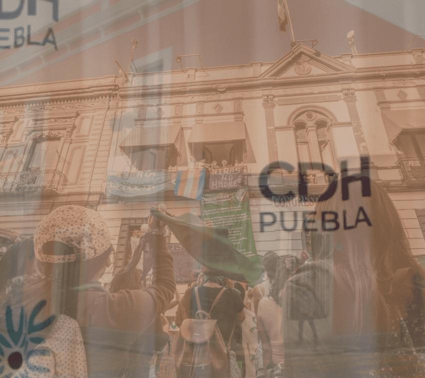 16 días después, CDH se pronuncia por la toma del Congreso de Puebla
