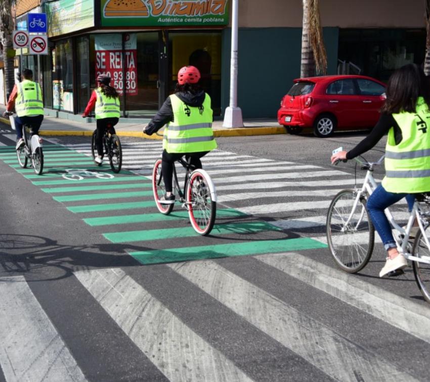 Inauguran nuevos tramos de ciclovía en Puebla