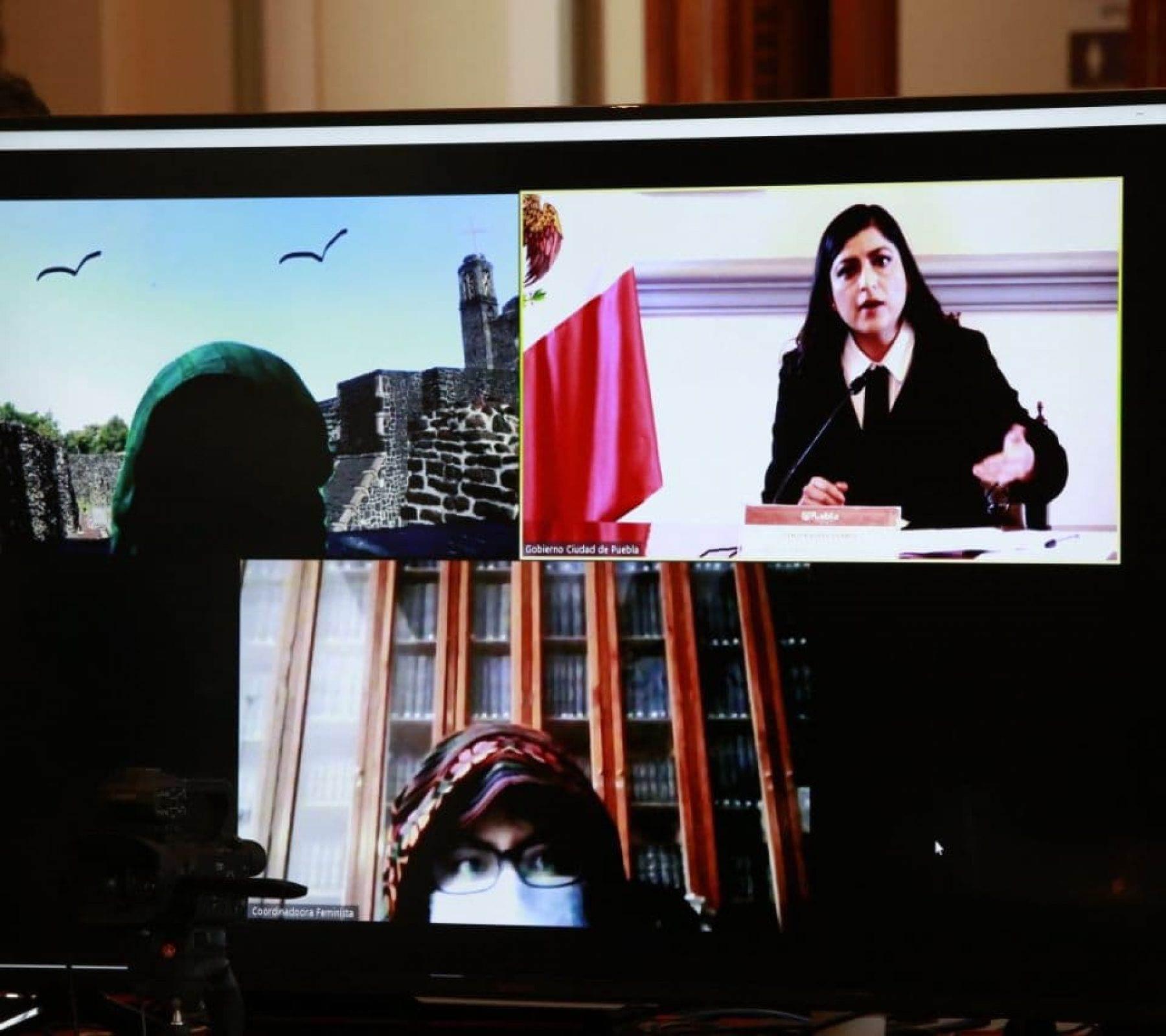 Feministas sostuvieron una reunión virtual con la alcaldesa
