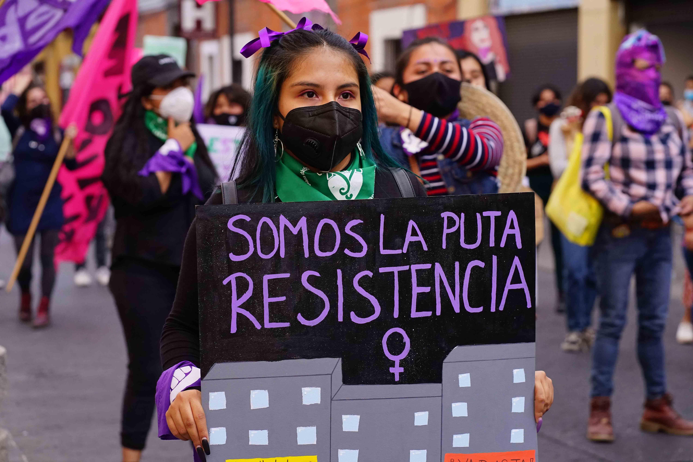 marcha de las putas en Puebla