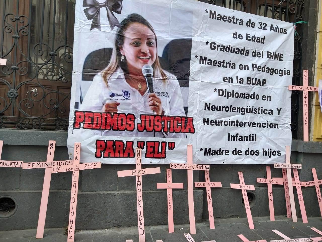 Elizabeth Orea Méndez fue asesinada por su esposo Jorge el 14 de febrero de 2020. La Fiscalía de Puebla tardó varios días en emitir una orden de aprehensión en su contra. Fotografía: Guadalupe Juárez
