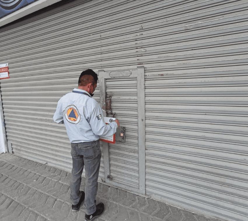 Clausuran 4 negocios de Puebla por incumplir con decreto