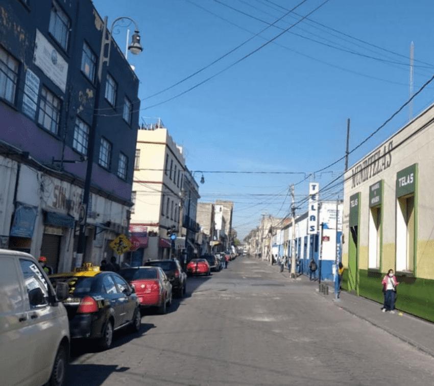 Disminuye 30% movilidad en el Centro Histórico de Puebla