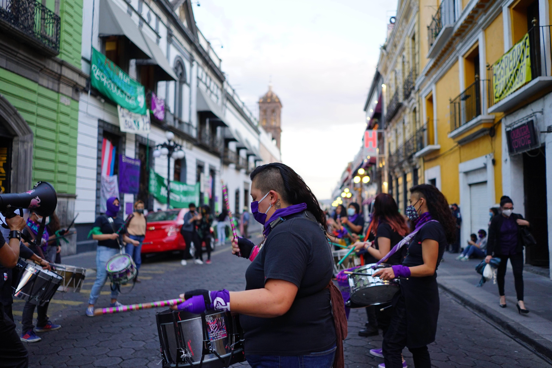 Batucada feminista de Puebla