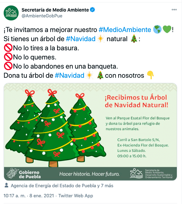 Donar árbol de navidad en puebla (Gráfico)