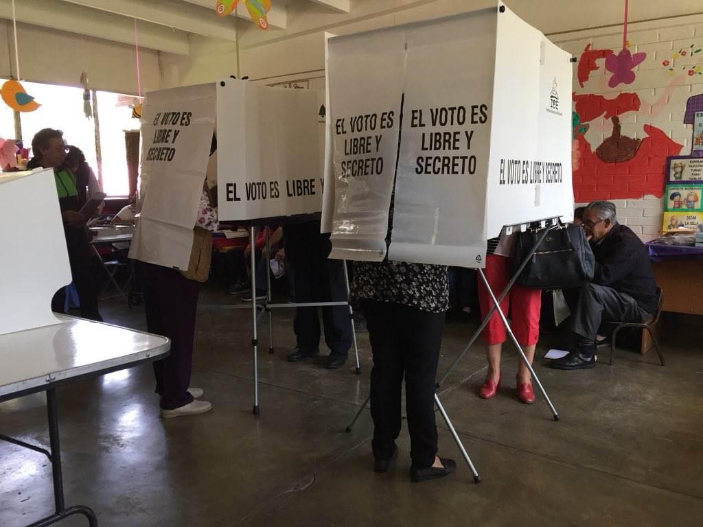 Fotografía de casillas en las elecciones en Puebla del proceso electoral pasado