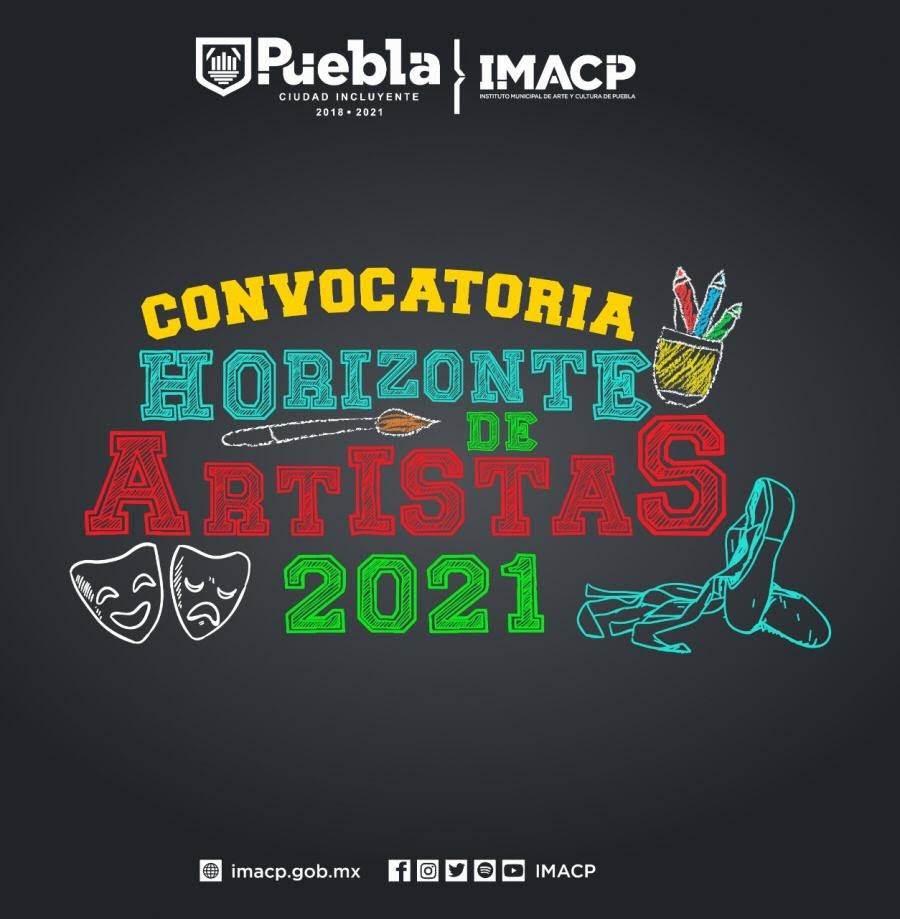 Cartel oficial de la convocatoria para artistas en el municipios de Puebla