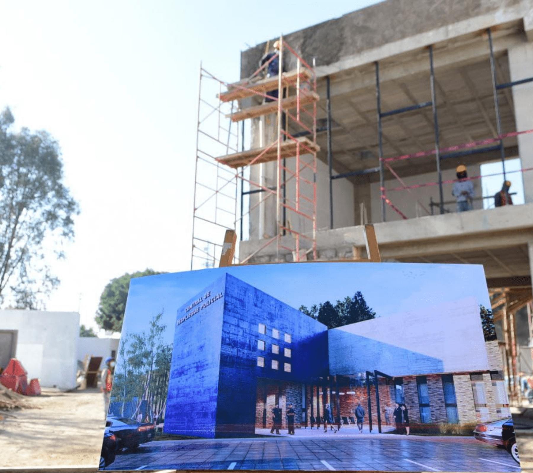 Avanza construcción del Centro de Despliegue Policial en Puebla