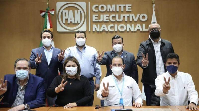 La noche del martes 16 de febrero la dirigencia nacional del PAN anunció la designación de Eduardo Rivera como candidato a la alcaldía de Puebla.