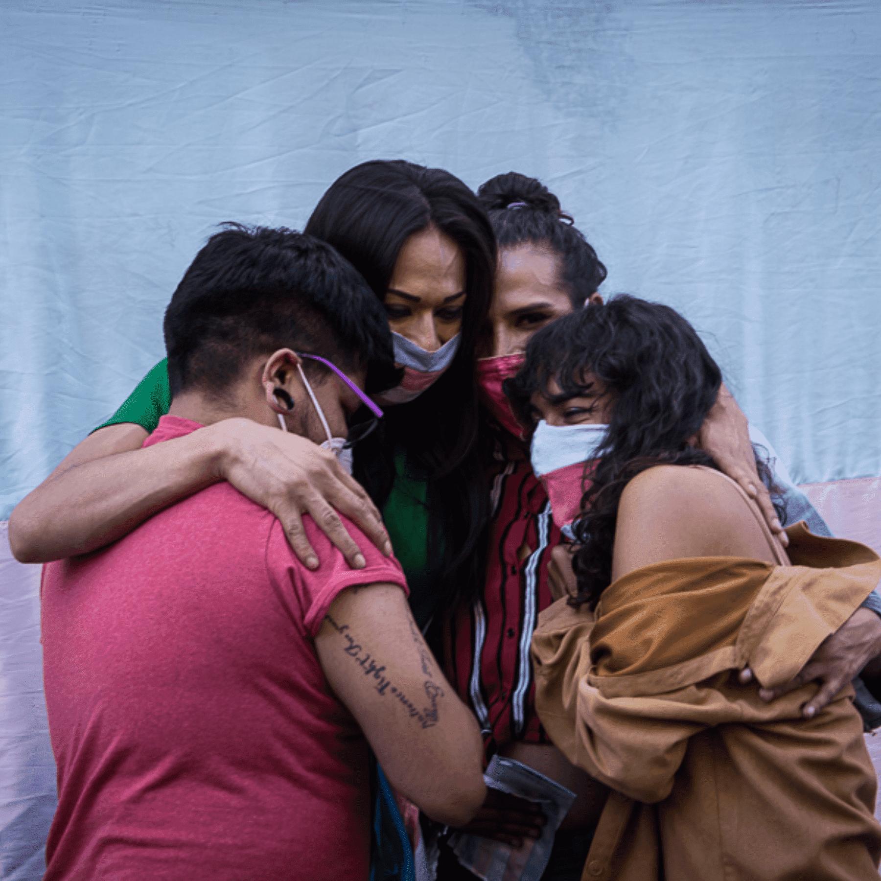 Mujeres trans celebran aprobación de la ley agnes en Puebla