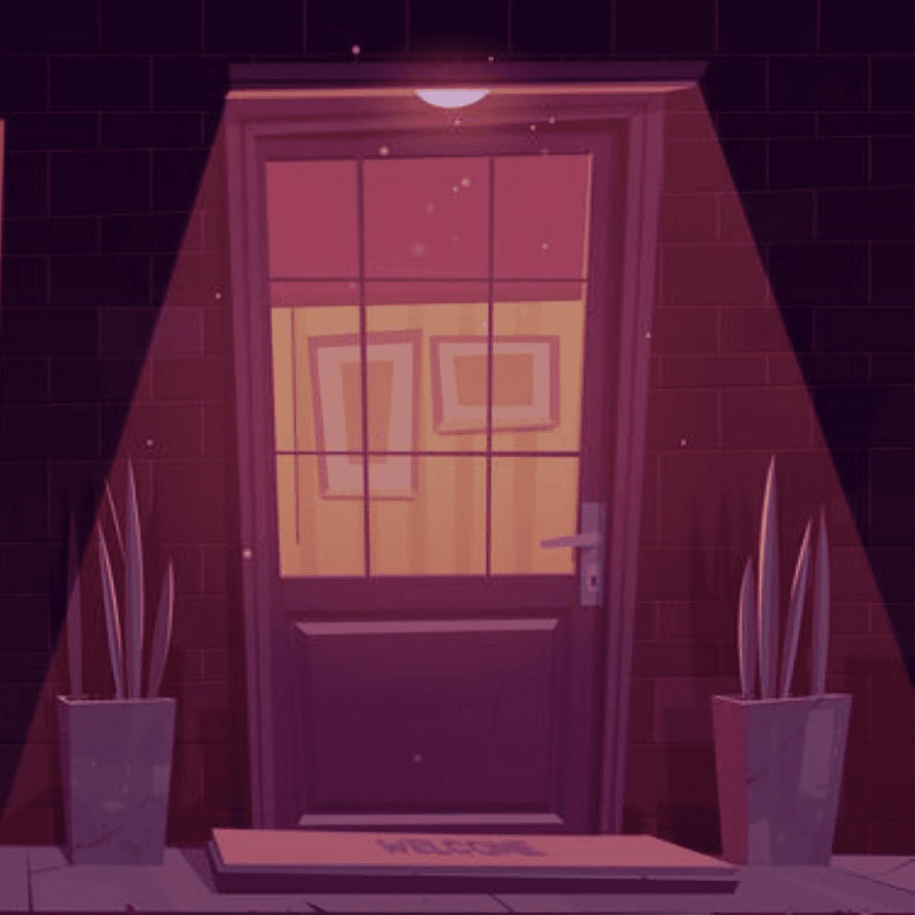 puertas violetas