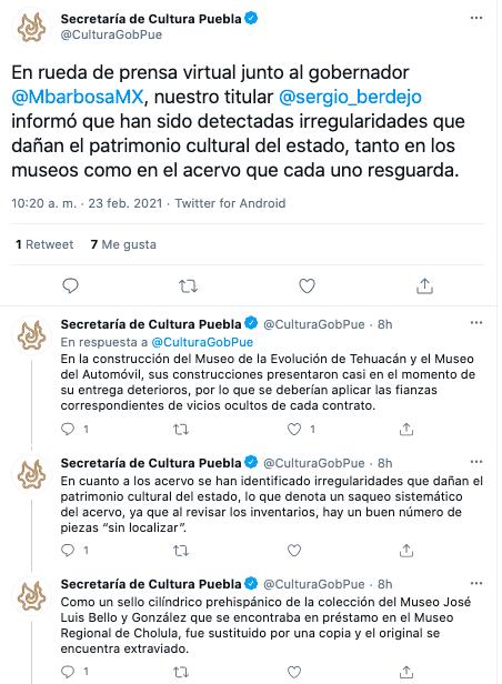 saqueos a museos en Puebla