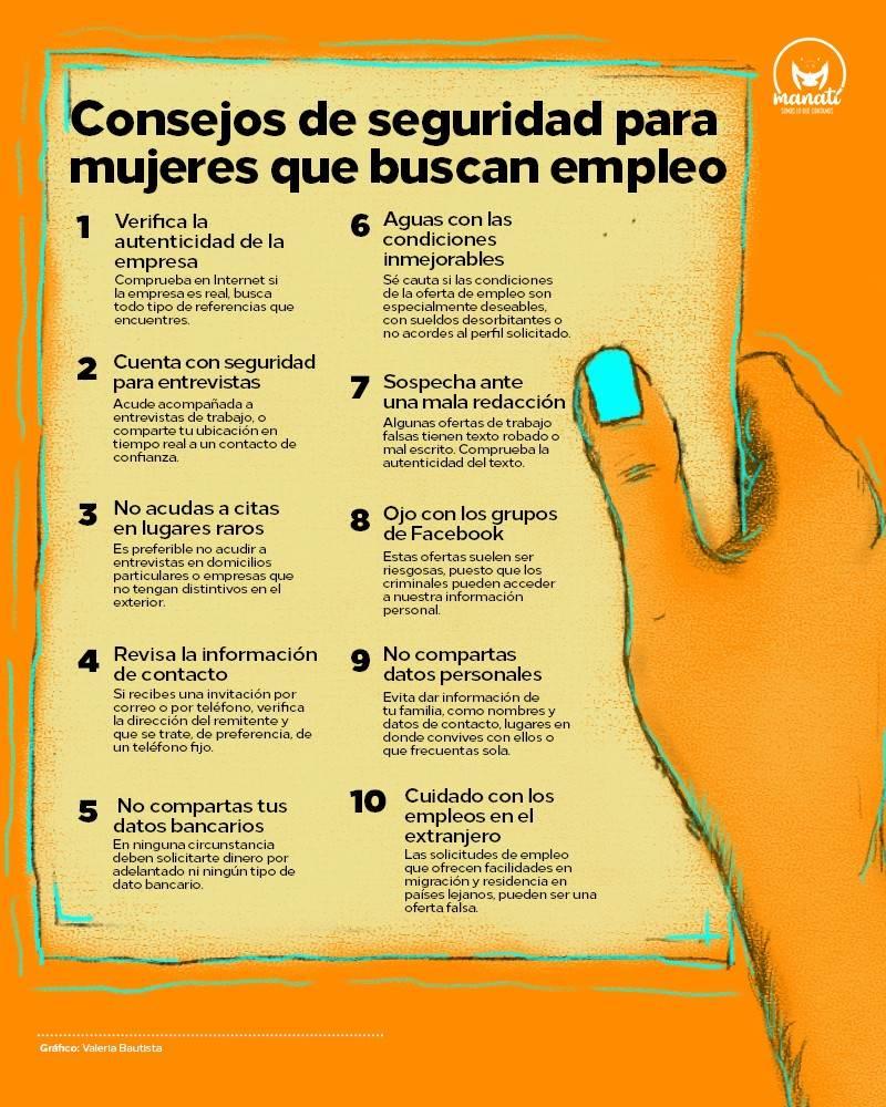 Consejos de seguridad para mujeres que buscan empleo