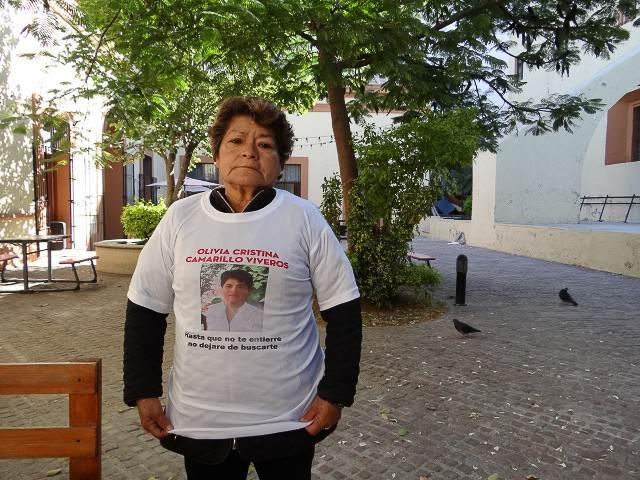 Oralia busca a Olivia, una de las mujeres desaparecidas en Tehuacán.