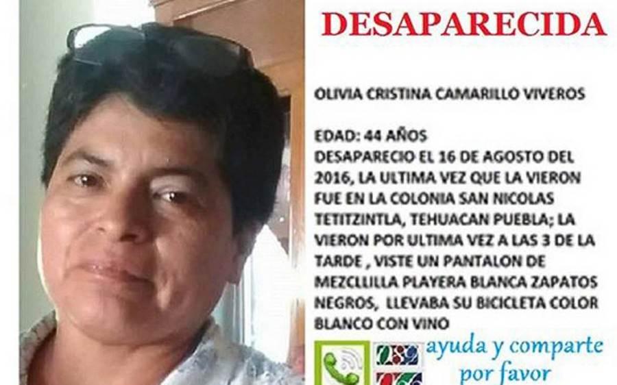 Entre las mujeres desaparecidas en Tehuacán se encuentra Olivia Cristina.