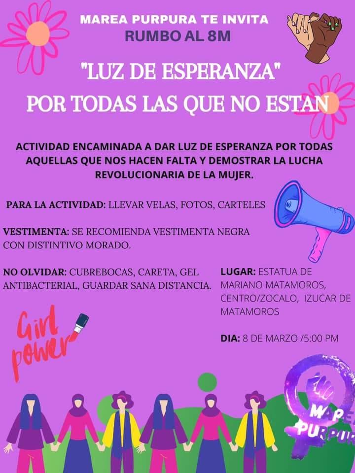 El #8M en Puebla también se vivirá en municipios como Izúcar.