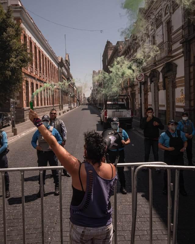 marcha de mujeres previo al 8m