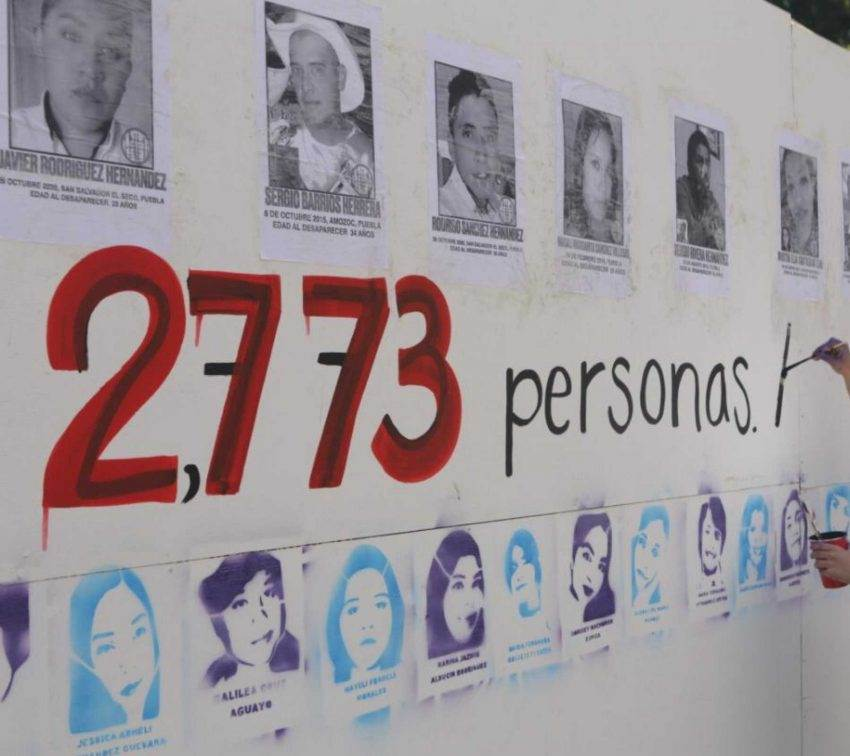Un muro para exigir justicia por las personas desaparecidas