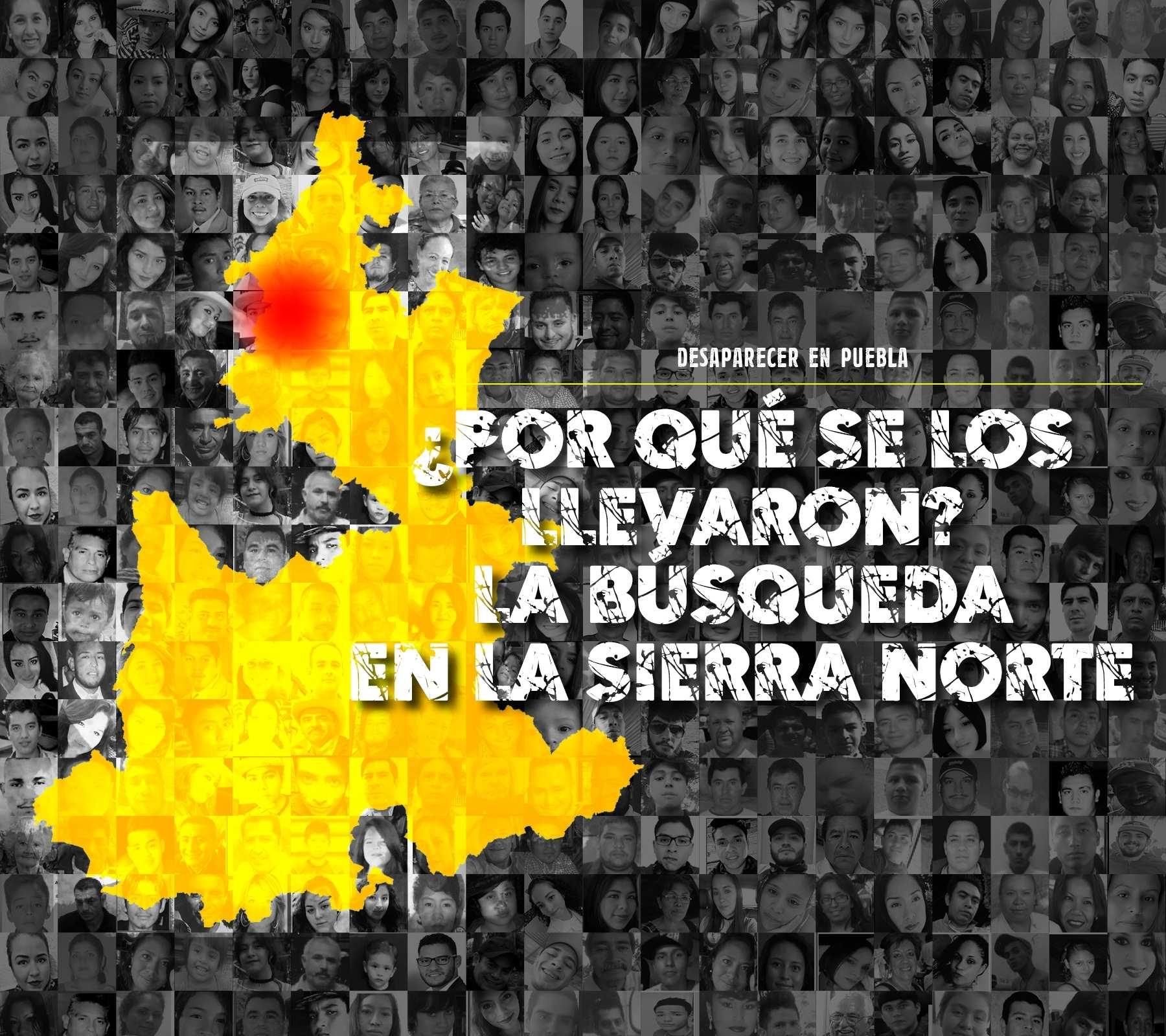 Portada: Personas desaparecidas en la sierra norte