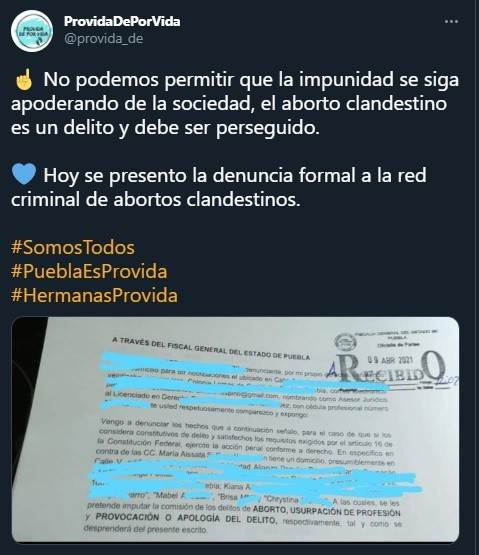aborto criminalización Puebla