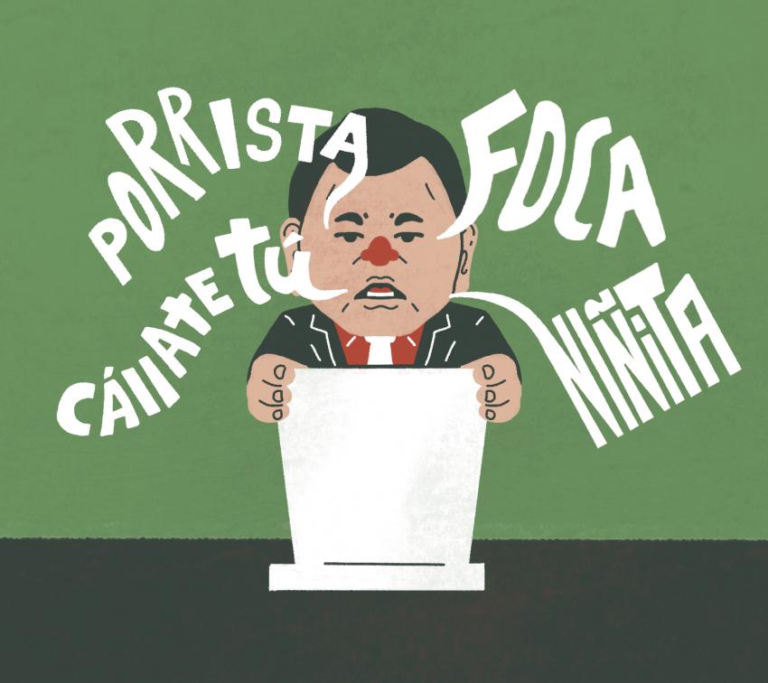 Los mil y un insultos del diputado Héctor Alonso Granados