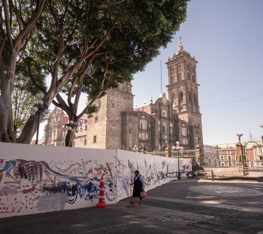 El misterio de las lajas del Zócalo de Puebla