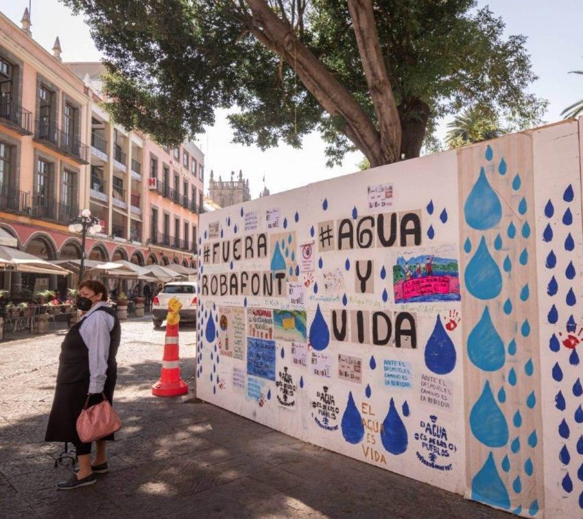 El muro del Centro Histórico que se convirtió en un espacio de protesta