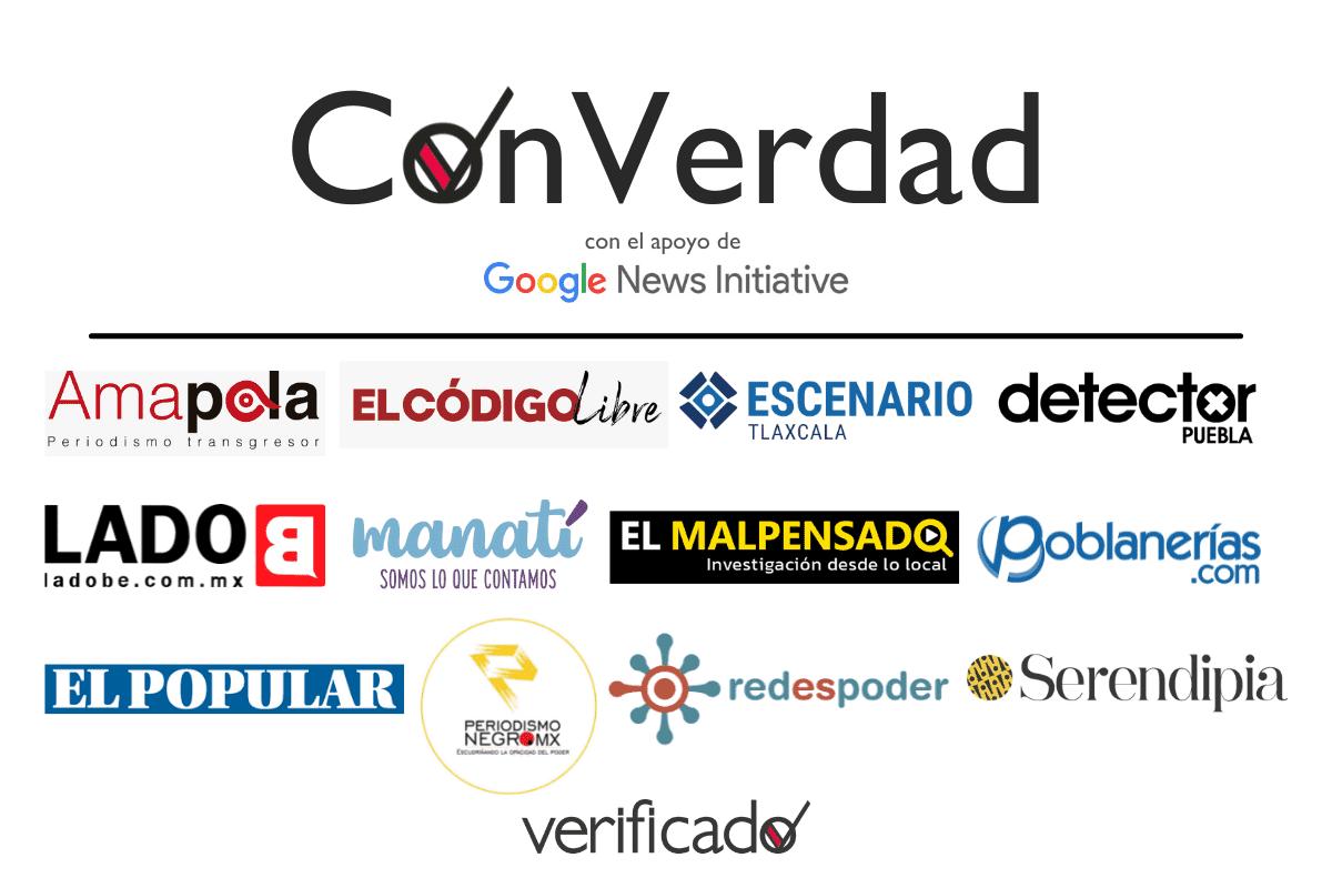 Logo de la iniciativa ConVerdad; busca combatir desinformación en elecciones 2021