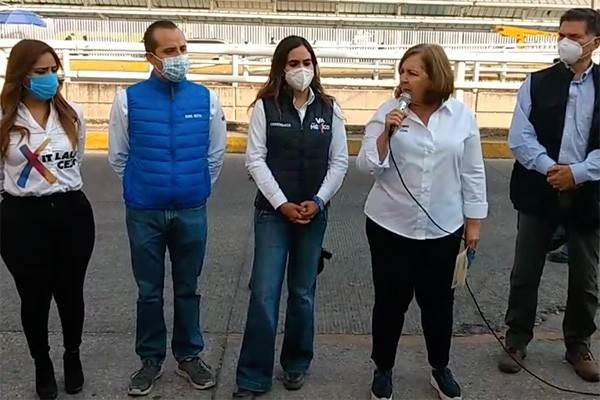 Ana Tere Aranda en rueda de prensa